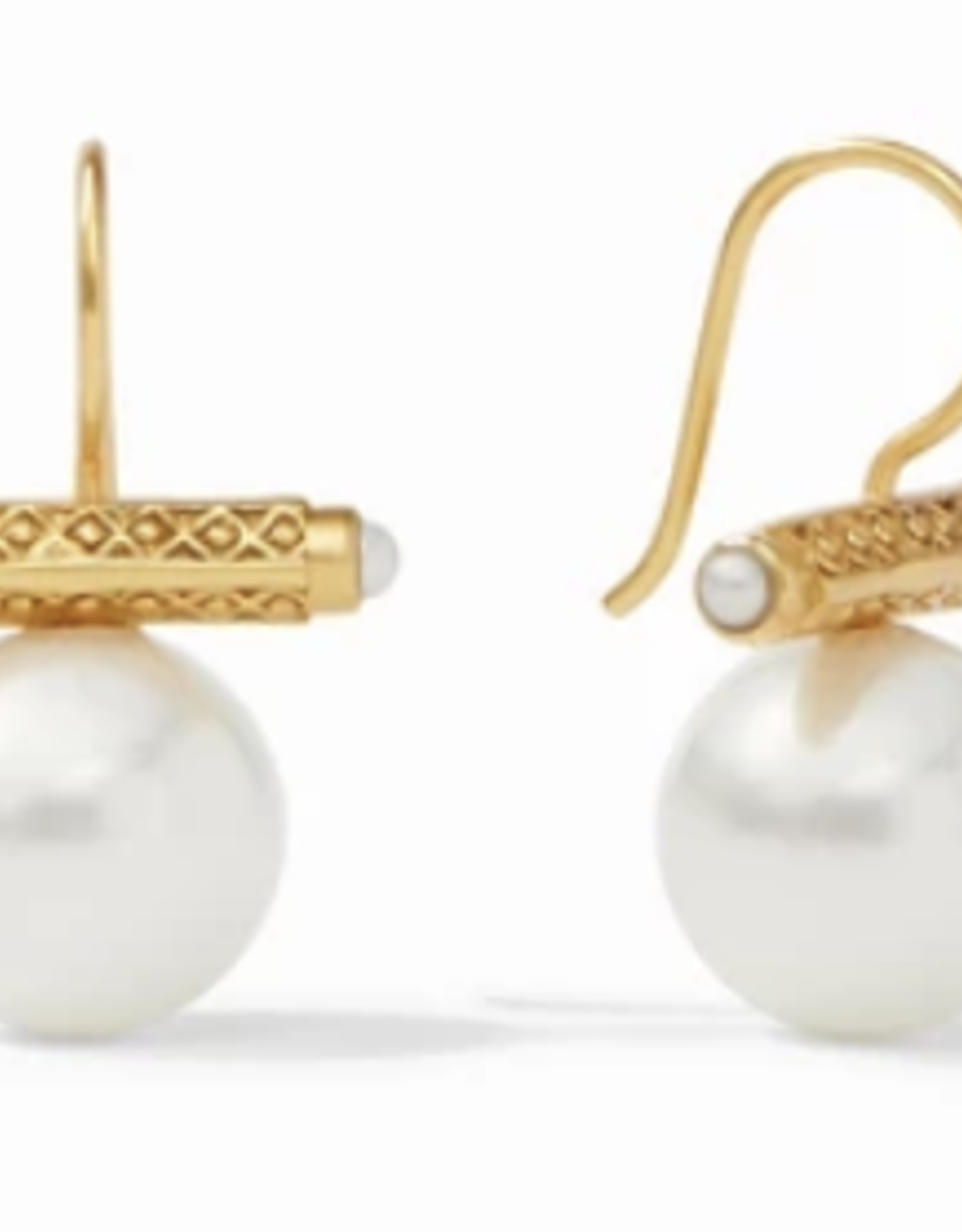 Julie Vos Medici Earring Gold Shell Pearl
