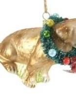 Cody Foster Festive Yellow Lab Ornament
