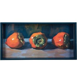 RockFlowerPaper Three Persimmons 10x20 Art Tray
