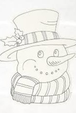 Hester & Cook Die Cut Coloring Snowman Placemat - Set of 12
