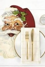 Hester & Cook Die Cut Santa Placemat - Set of 12