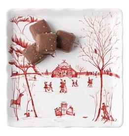 "Juliska Country Estates Winter Frolic ""Mr. & Mrs. Claus"" Sweets Tray"