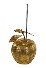 Cody Foster Gilded Gold Apple Ornament