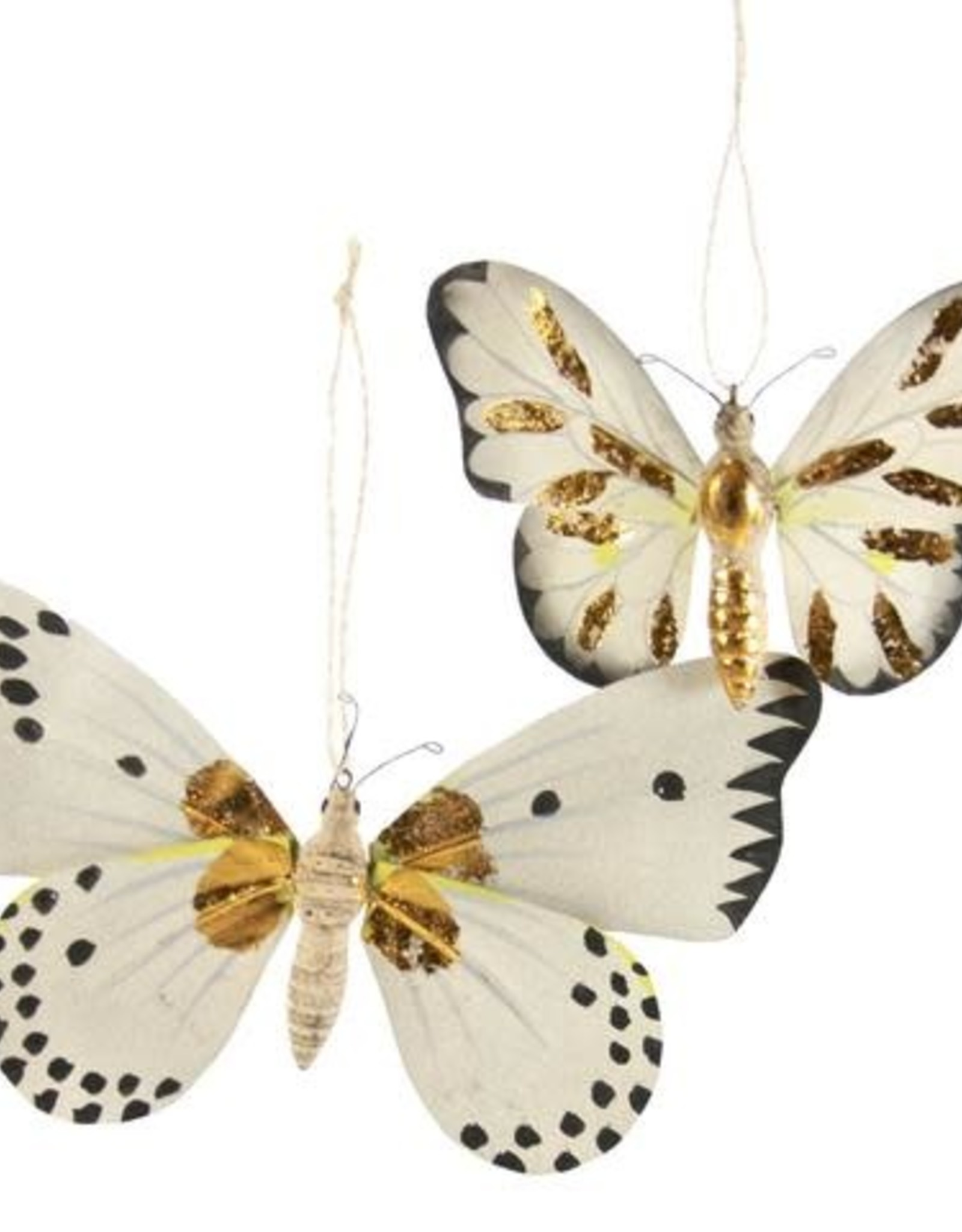 Cody Foster Moth with Gold Markings Ornament