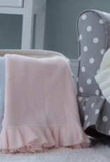 A Soft Idea Knitted Blanket with Ruffle Edge