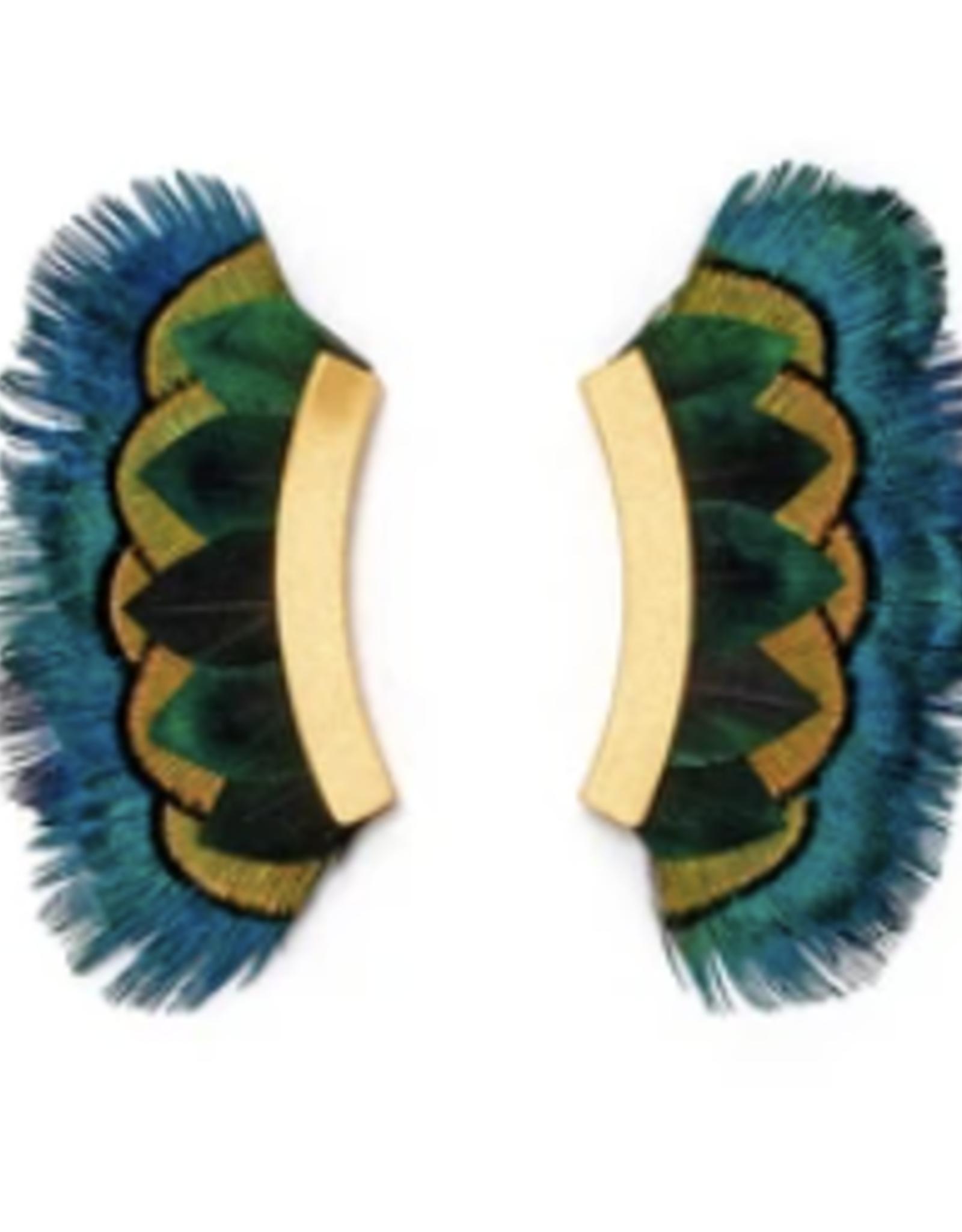 Brackish Westmore Earrings - Peacock Feathers