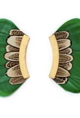 Brackish Hendrix Earrings - Goose and Pheasant Feathers
