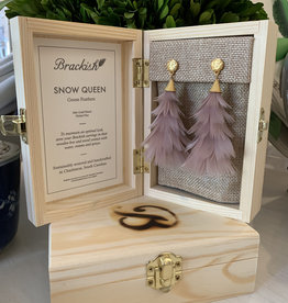 Brackish Snow Queen Earrings - Goose Feathers