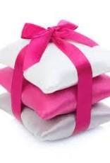 Elizabeth W Silk Sachet Set - Hot Pink/Ivory/Silver