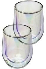 Corkcicle Prism Glass Stemless Wine Glass - Set of 2