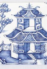 Pagoda Paper LLC Blue Willow Pagoda Paper Coasters