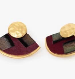 Brackish Penny Mac Fan Earrings - Goose and Turkey Feathers