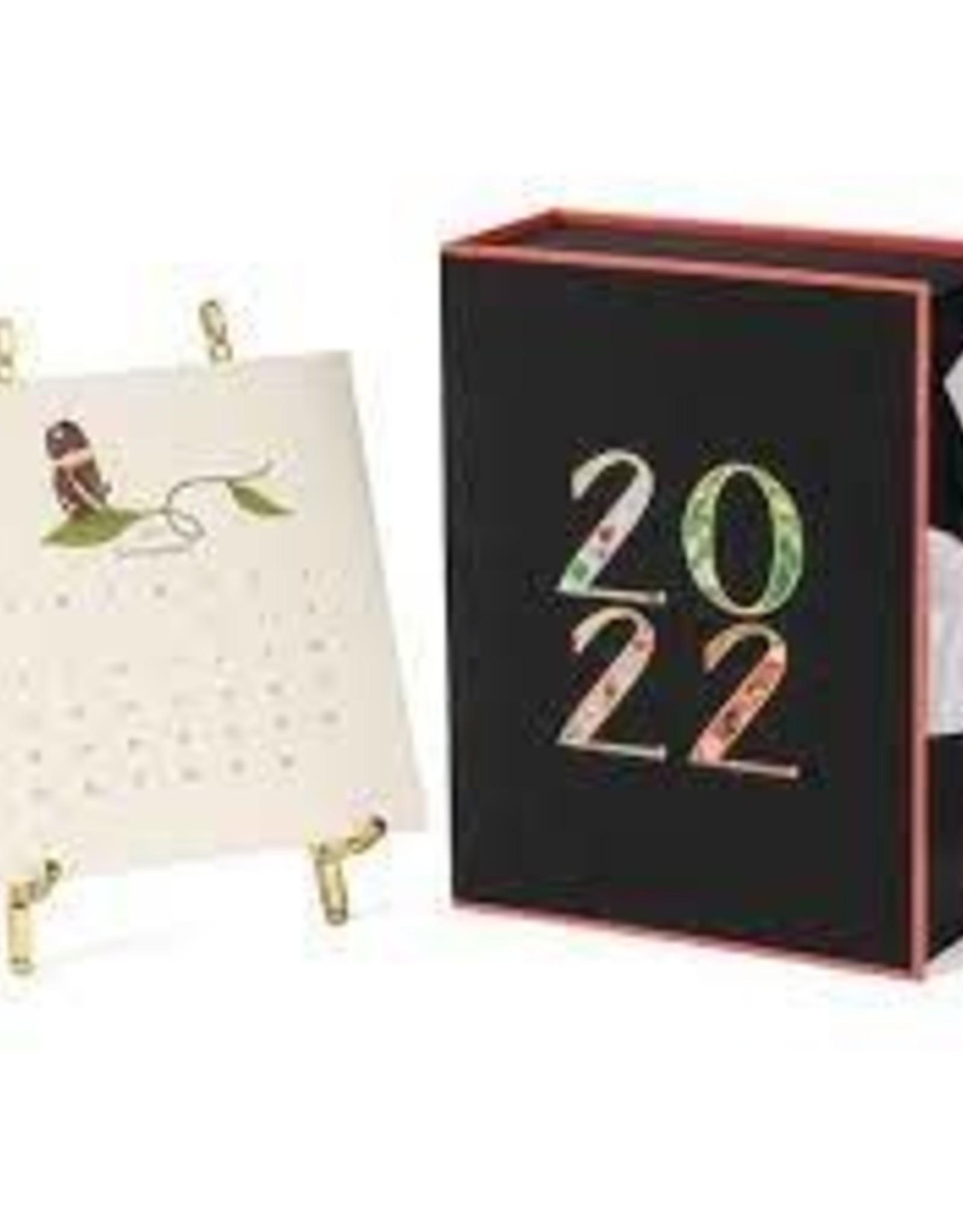 Karen Adams Designs 2022 Desk Calendar with Gold Easel