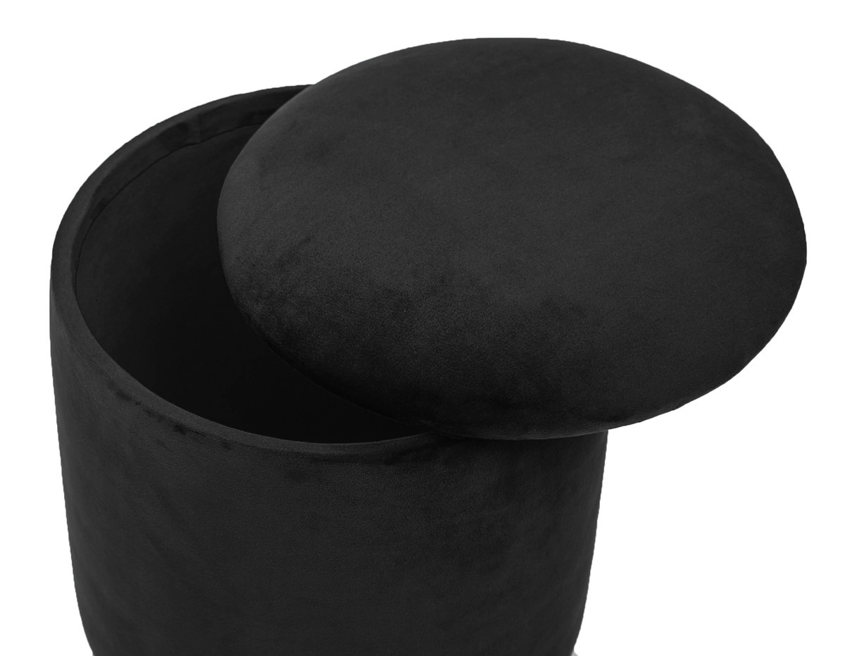 Pri Black Storage Ottoman