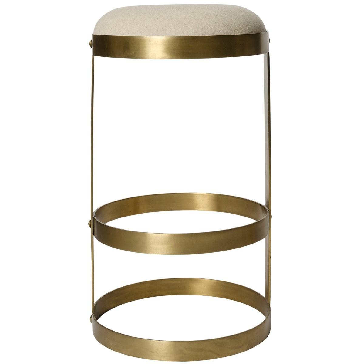 Dior Bar Stool, Antique Brass
