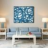 Framed Circle Silk Panel