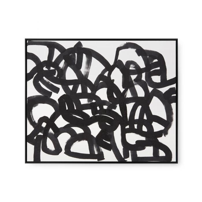 Framed Maze Silk Panel