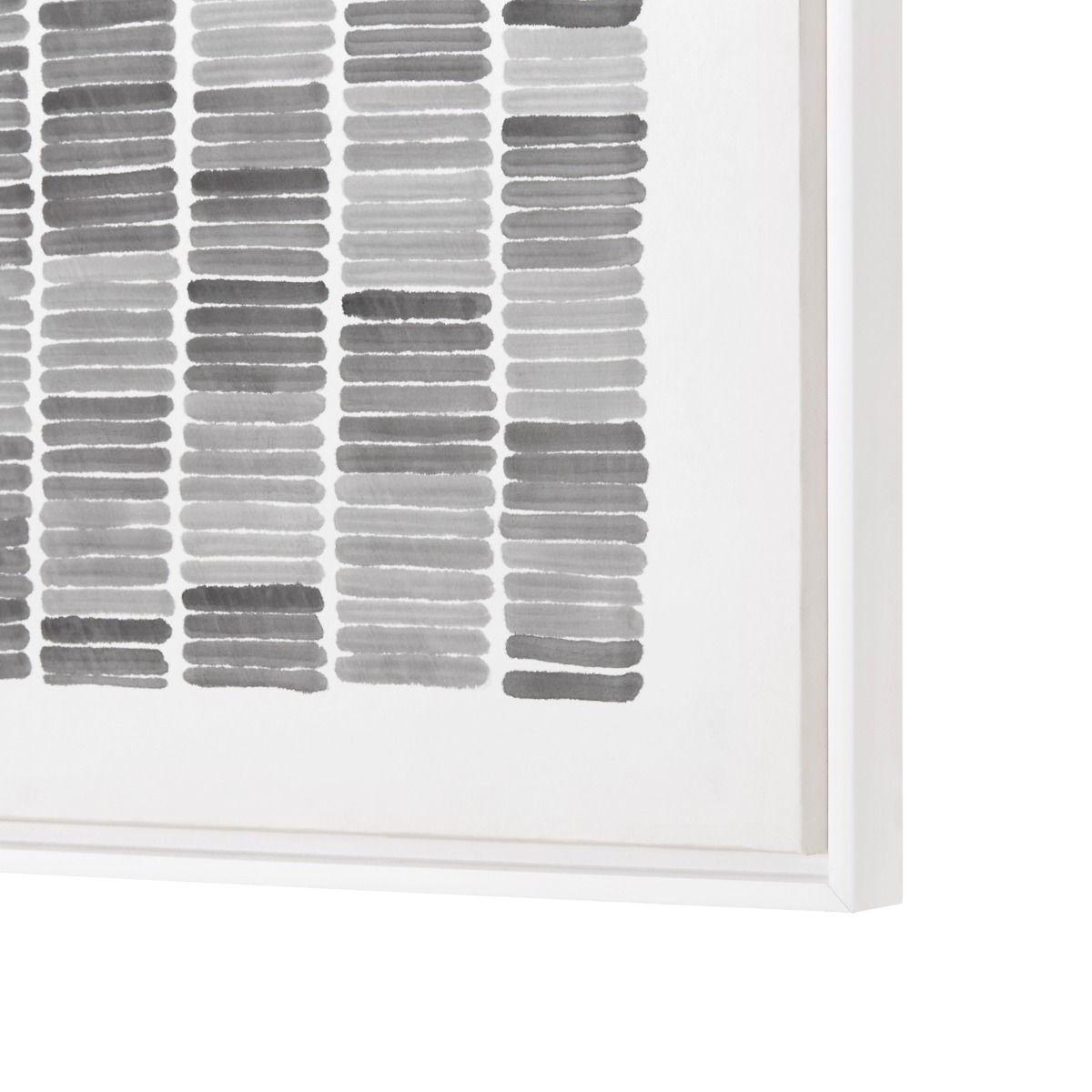 Framed Rain Silk Panel, Black