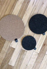 Curio Wool and Cork Plant Trivet Set, Qty 3