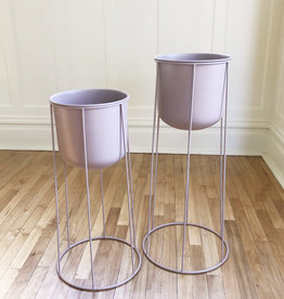 Curio Contemporary blush plant stand