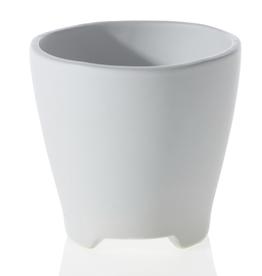 Curio Three-footed Ceramic Pot, White