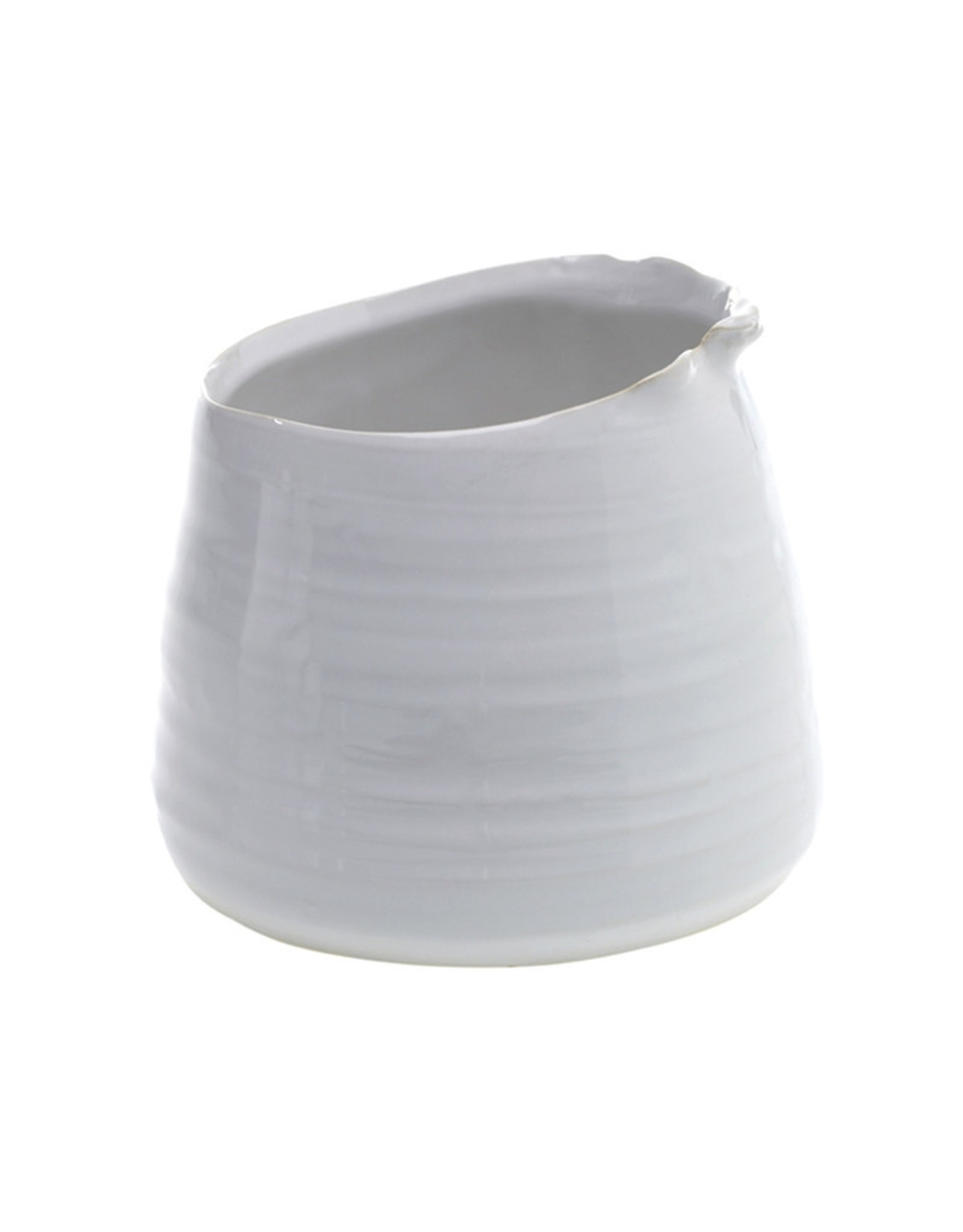 Curio Perfect Pot, white gloss