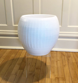 Curio English Pot, satin white