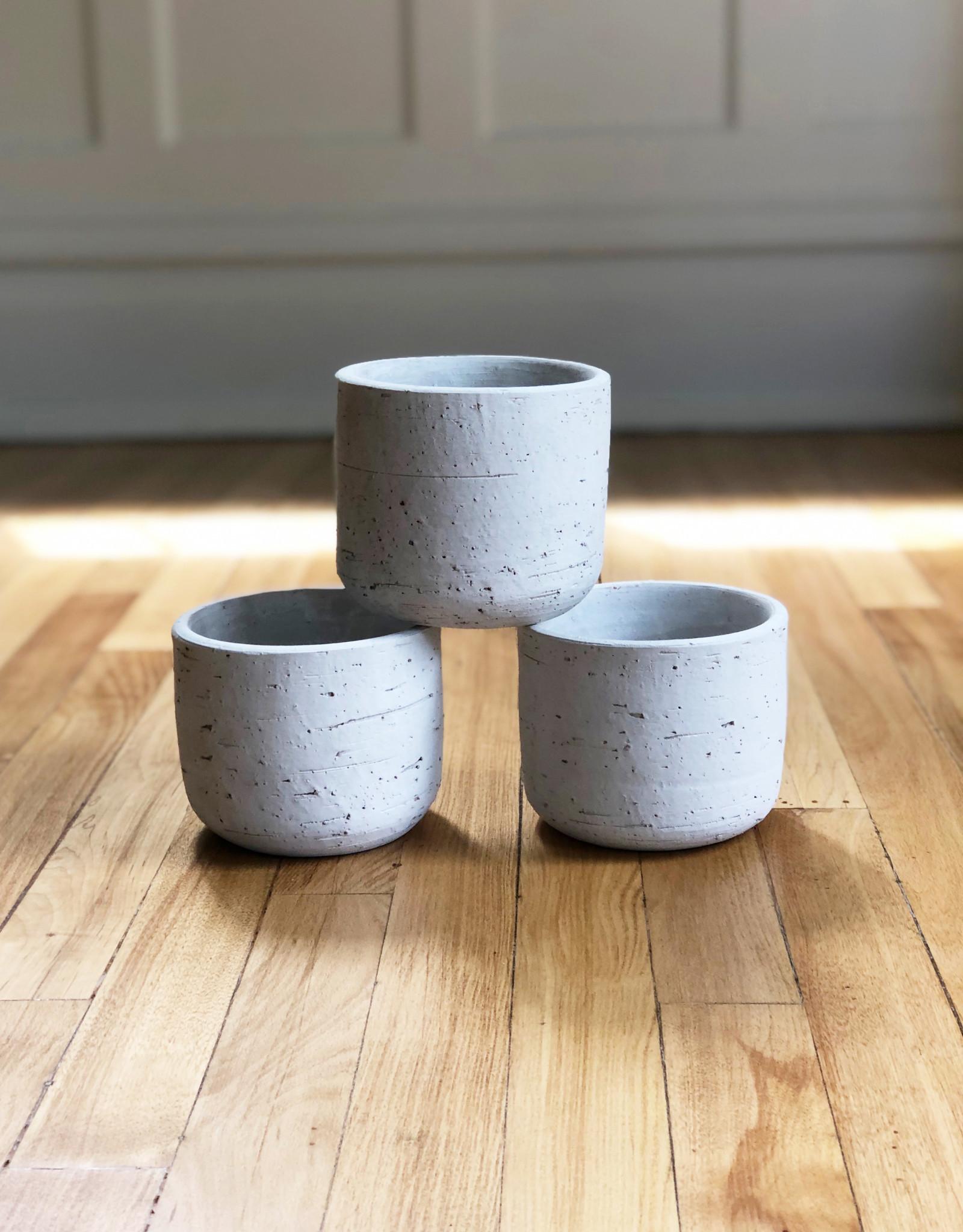 Curio Birch Clay Pot