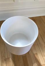 """Curio Minimal Pot, Matte White 10.75""""w x 10""""h"""