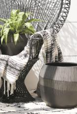 """Curio Etched Indoor/Outdoor Pot, 19""""w x 16.50""""h"""