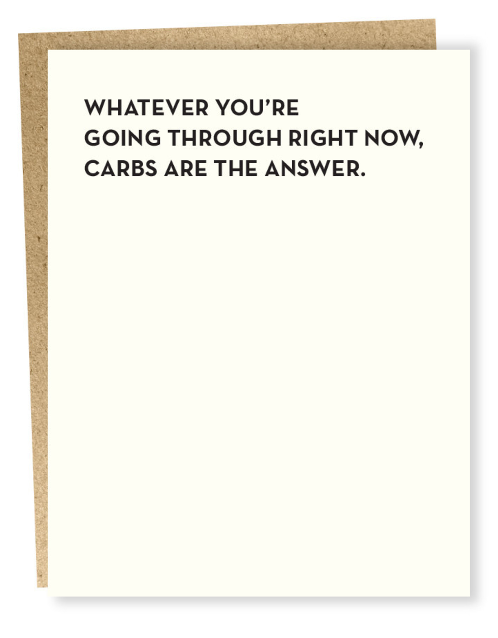 Card #919 - Carbs Are The Answer
