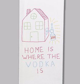 Tea Towel (Premium) - Home Is Where The Vodka Is