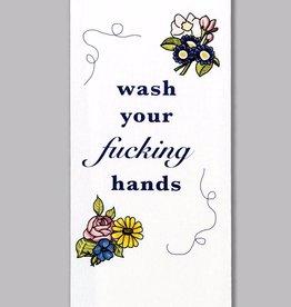 Tea Towel (Premium) - Wash Your Fucking Hands
