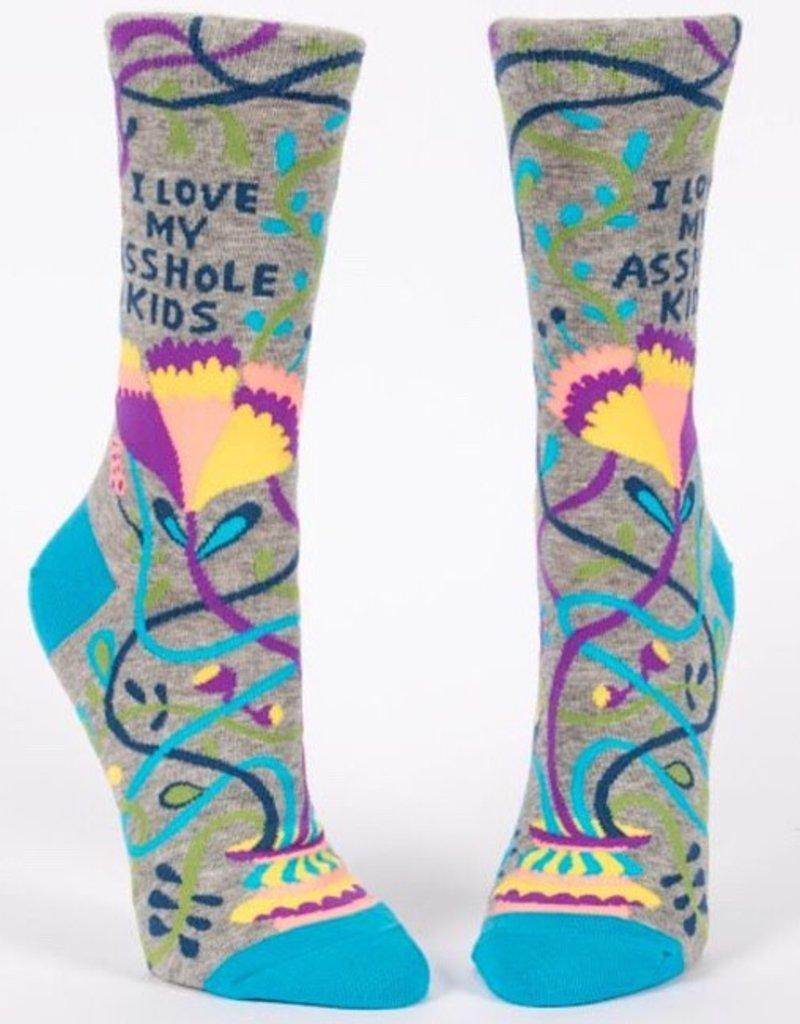 Womens Socks - Love My Asshole Kids