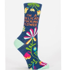 Blue Q Womens Socks - Delicate Fucking Flower