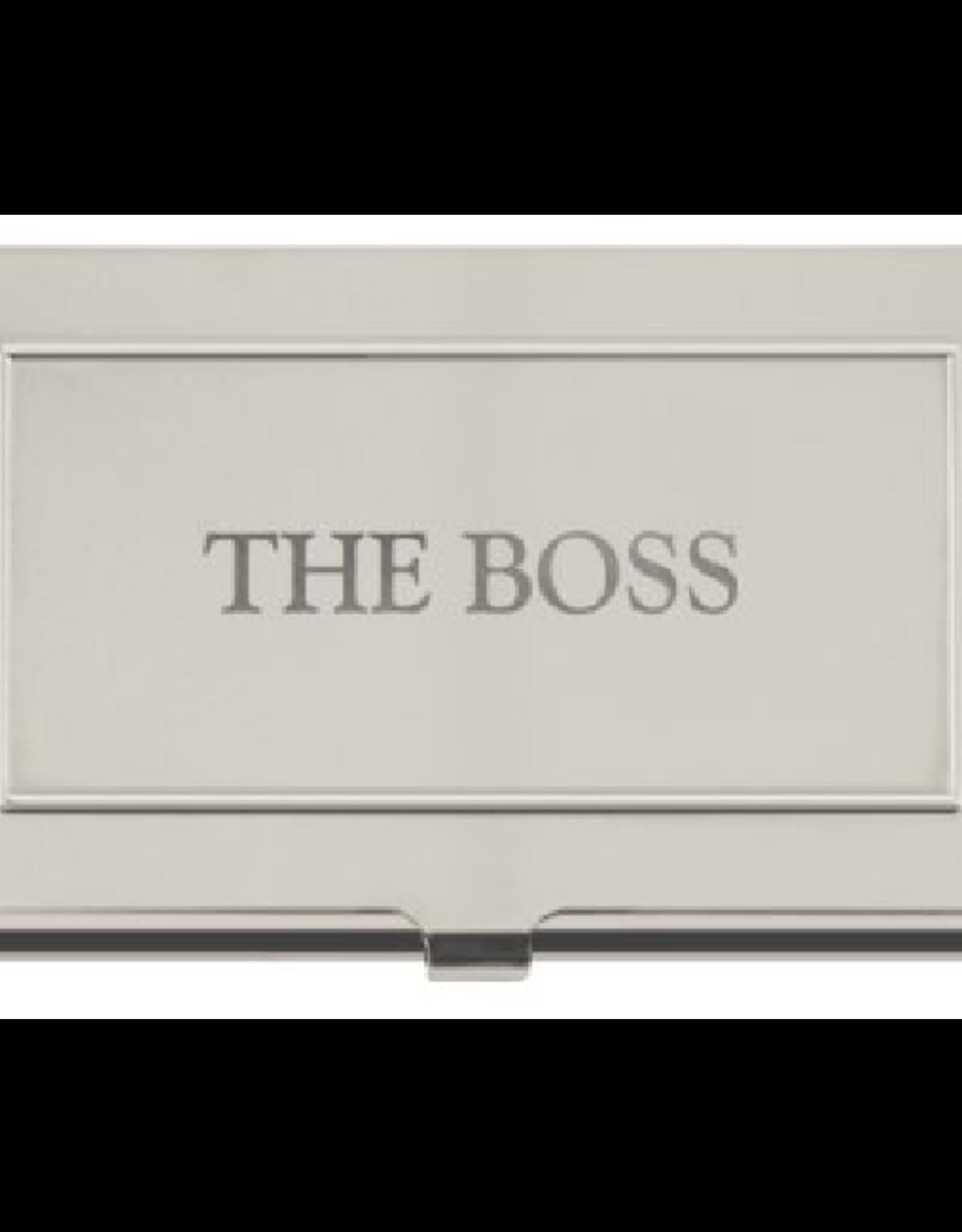 Business Card Holder - The Boss