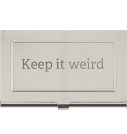 Business Card Holder - Keep It Weird