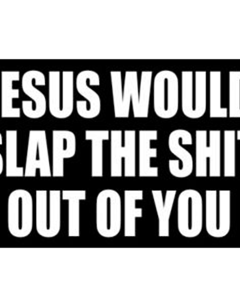Sticker - Jesus Would Slap The Shit Out Of You
