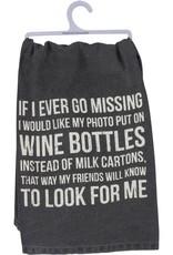 Dish Towel - Missing Wine