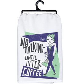 Tea Towel - No Talking Until After Coffee