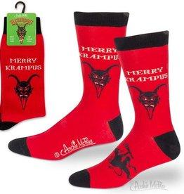 Men's Socks - Merry Krampus (Red)