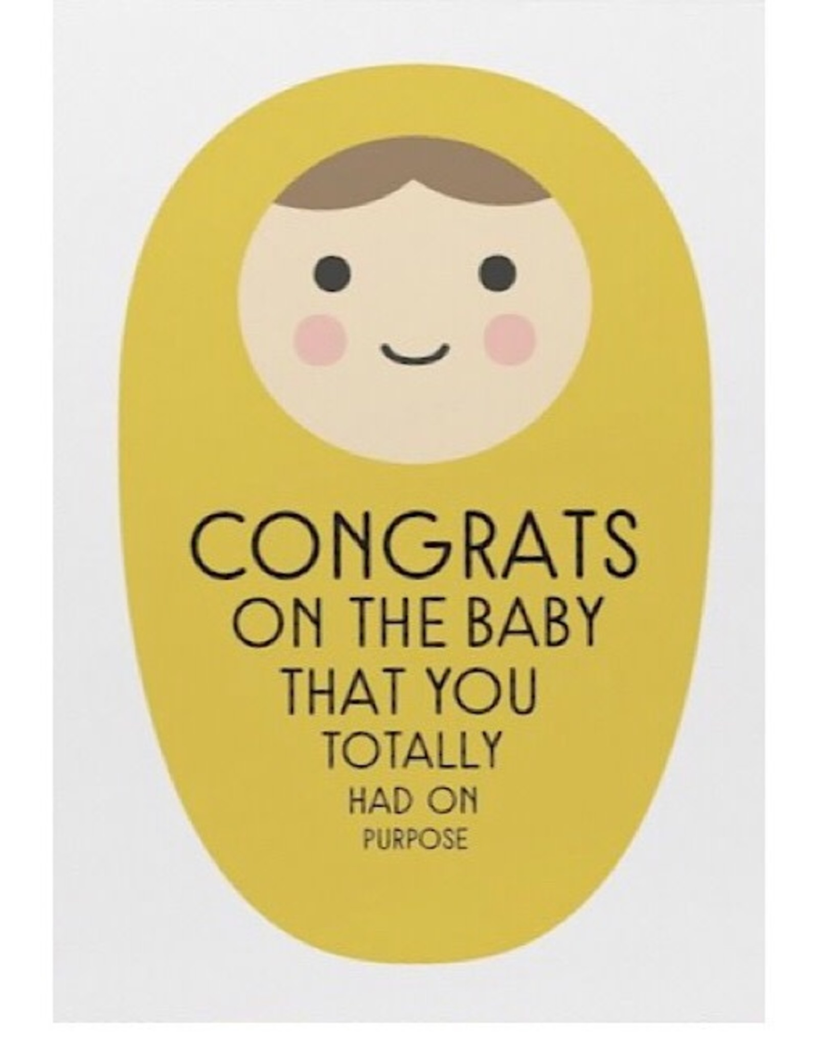 Card - Congrats On Baby On Purpose