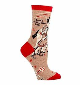 Womens Socks - I Hate Everyone Too