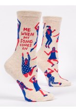Socks (Womens) - When My Song Comes On