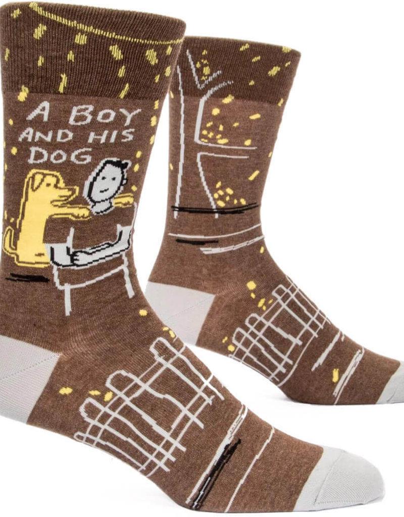 Mens Socks - A Boy And His Dog