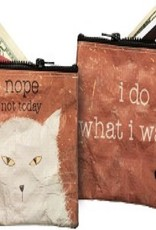 Purse (Coin) - Nope Not Today, I Do What I Want (Cat)