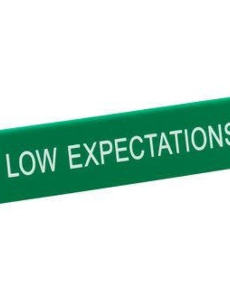 Desk Sign - Low Expectations