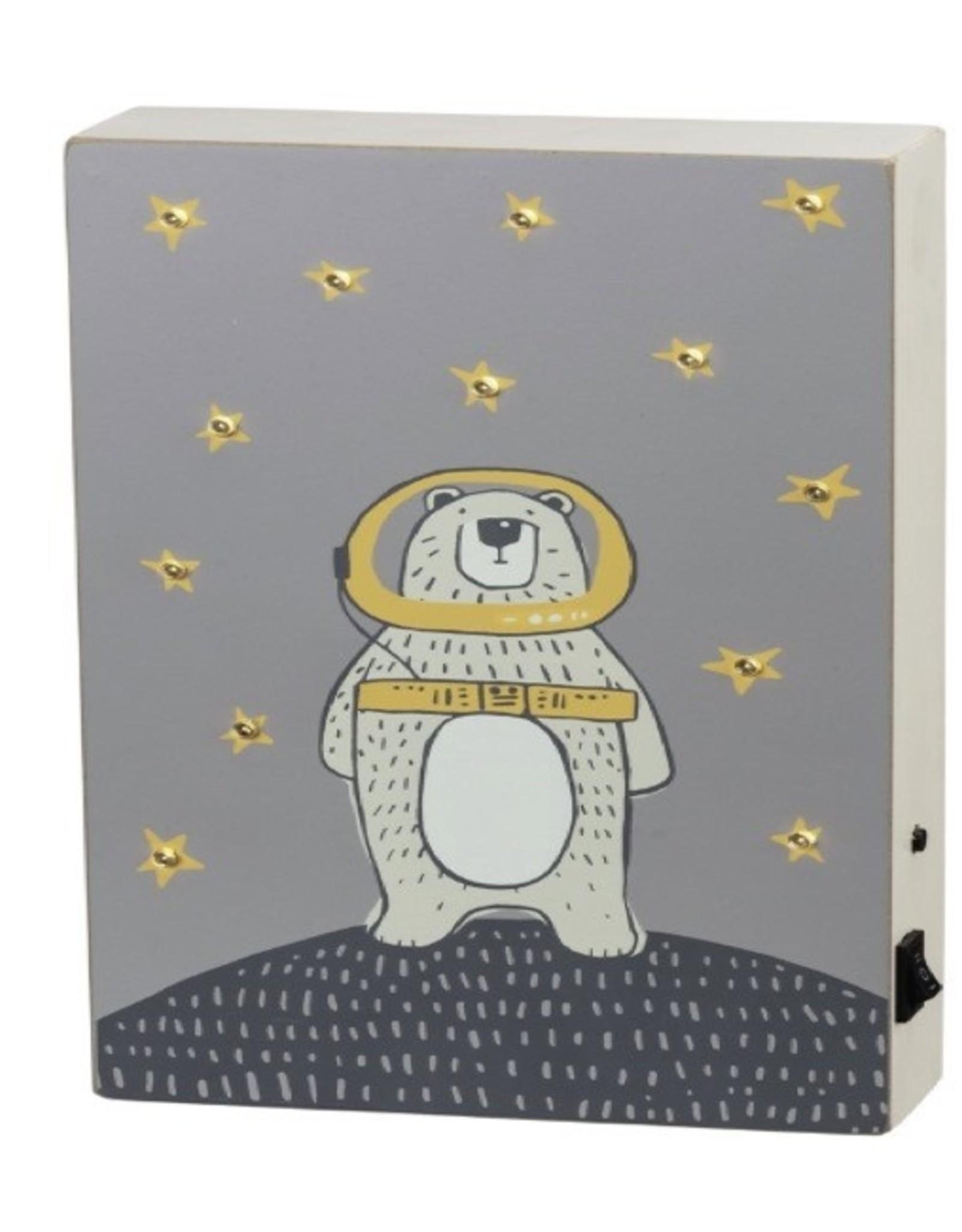 Sign (Box) (LED) - Space Bear