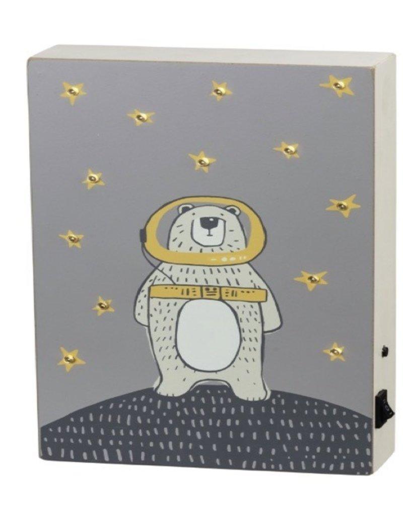 Box Sign - Space Bear (LED)