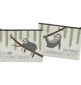 Zip Pouch - Say No To Doing Things (Sloth)